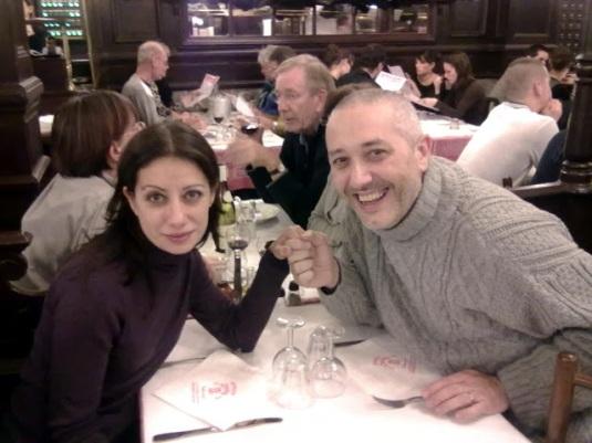 Novembre 2010 con Sandro à Paris, Bouillon Chartier