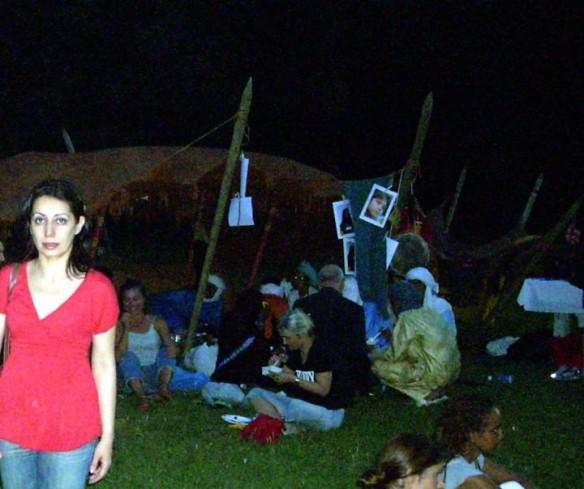 10 luglio 2010 davanti alla tenda