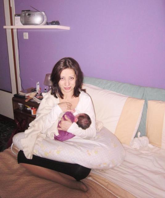 16 febbraio allattando Viola sul lettone