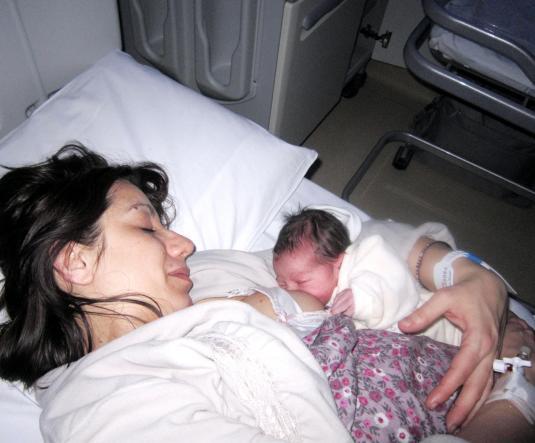 8.2.2013 con Viola neonata al seno