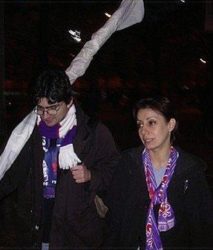 ricordi del 2003 con il Vento fuori lo stadio