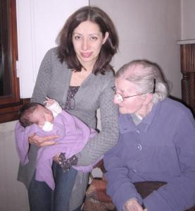 2.3.2013 con Gabriella e Viola a casa di nonna