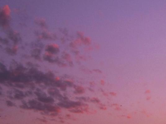 nuvole al tramonto