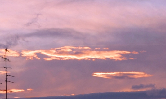 nuvole verso il tramonto