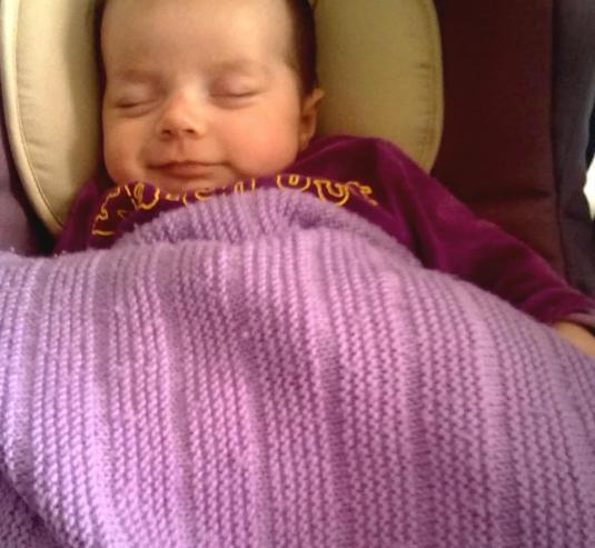 Viola sorride e dorme