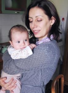 16.5.2013 con Viola in cucina
