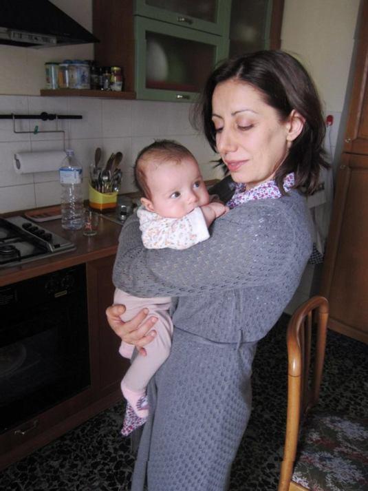 con Viola in cucina
