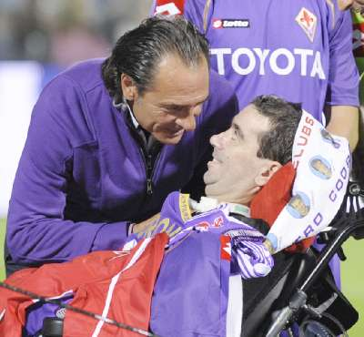 8.10.2008 Stefano Borgonovo con Prandelli
