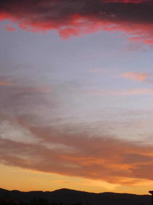 3 nuvole al tramonto