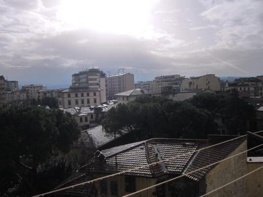 1febbraio 2014 dalla finestra  illusione di sole stamani