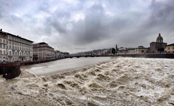 Firenze 31 gennaio 2014 Arno