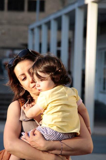 1 agosto 2014 con Viola in braccio