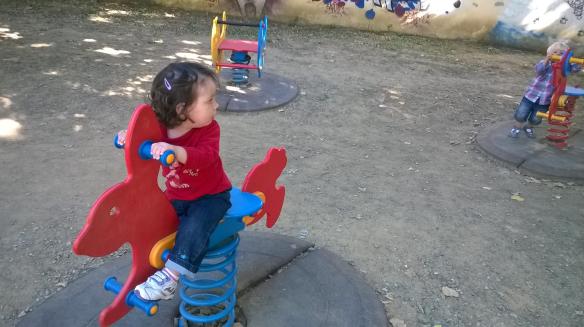 29 settembre 2014 a cavallo di un coniglio
