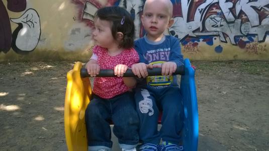 30 settembre 2014 Viola gioca con Cristian