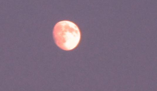 6 Luna verso sera