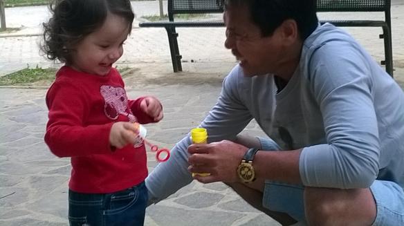 7 ottobre bolle di sapone con Jojo