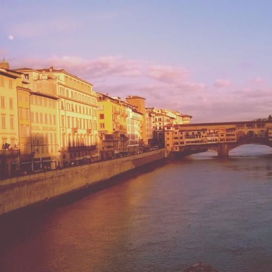 3 Marzo 2015 Ponte Vecchio e Luna