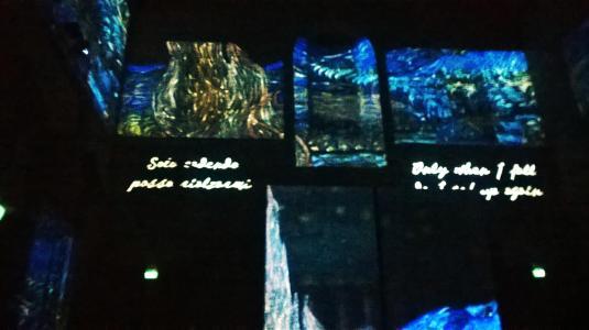 7 marzo Van Gogh alive solo cadendo