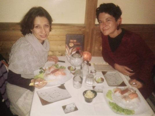 sabato 28 marzo 2015 Cate e Dani con sashimi