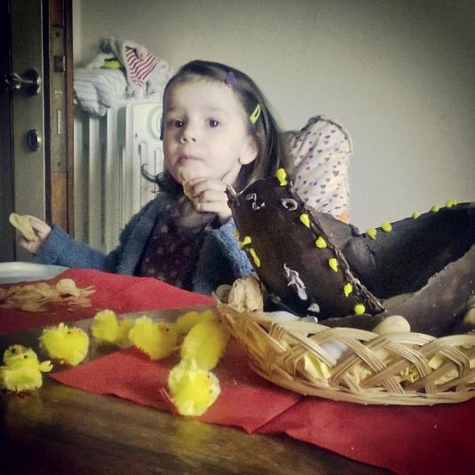 5 April 2015 Pasqua Viola e ovo