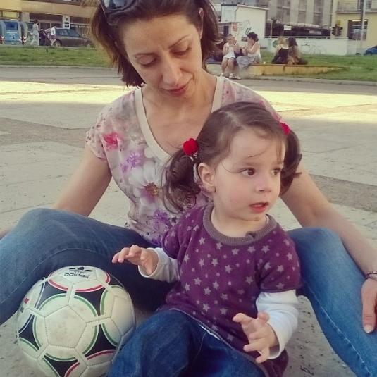 10 maggio 2015 a sedere con Viola