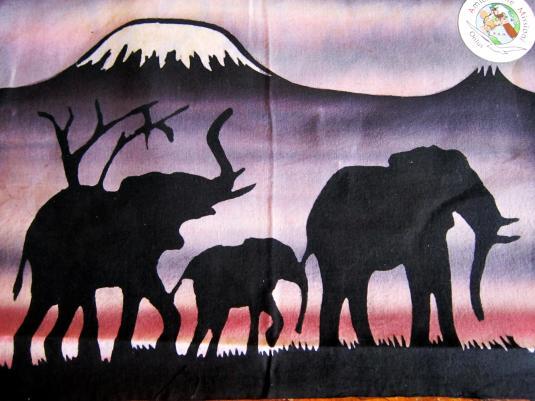 Batik 1 elefanti