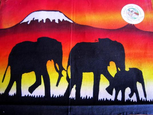 Batik 10 elefanti