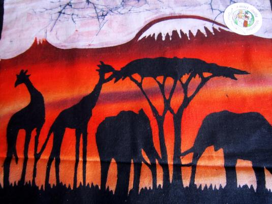 Batik 7 giraffe e elefanti