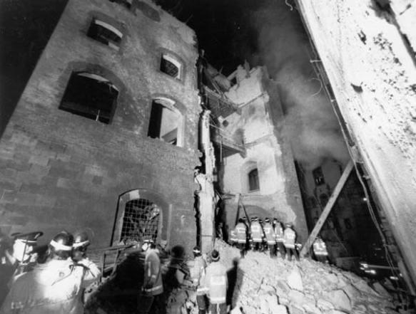 Torre de' Pulci dopo l'esplosione