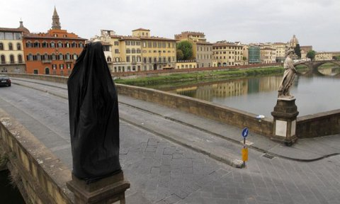 Ponte Santa Trinita a lutto foto di Ody