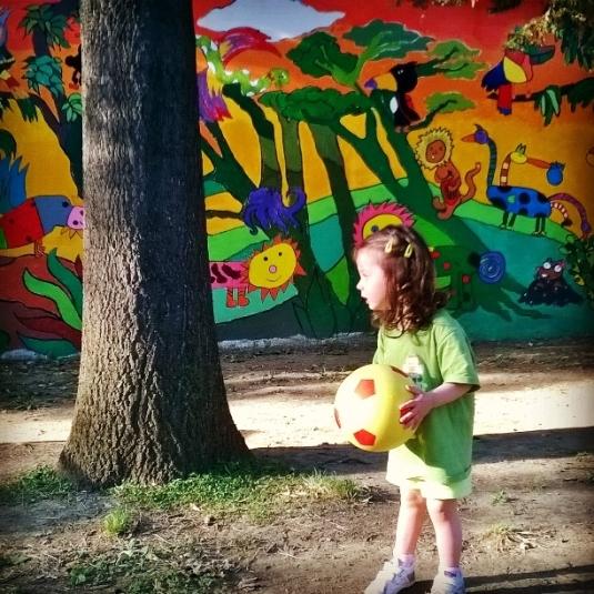 21 Viola e i, murales al giardino