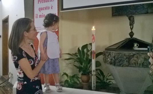 7 giugno 2015 Anna Viola e il cero