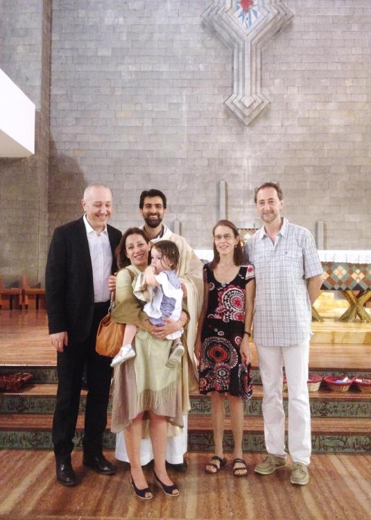7 giugno 2015 Battesimo di Viola foto di gruppo