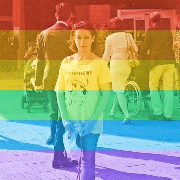 la mia foto profilo ora arcobaleno