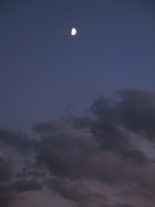 21 settembre 2015 Luna e nuvole