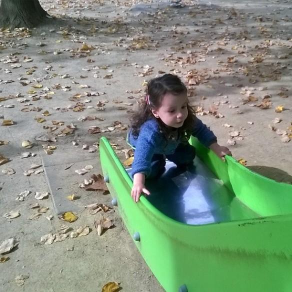 26 ottobre 2015 scivolo e foglie