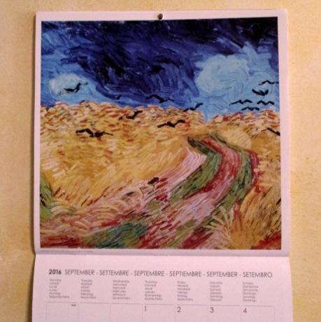 1 Settembre 2016 Van Gogh campo di grano con volo di corvi