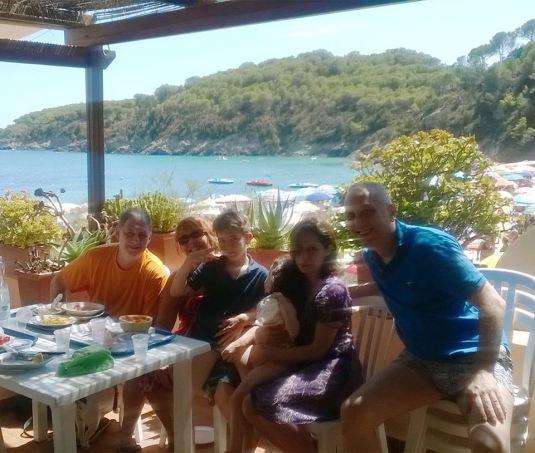 11 agosto 2016 con David, Francesca, Fabio, Viola e Sandro al Pino