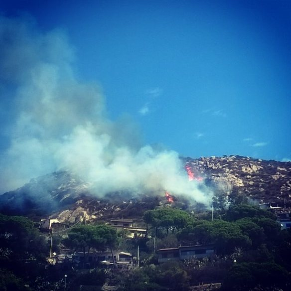 11 agosto 2016 incendio a Fetovaia