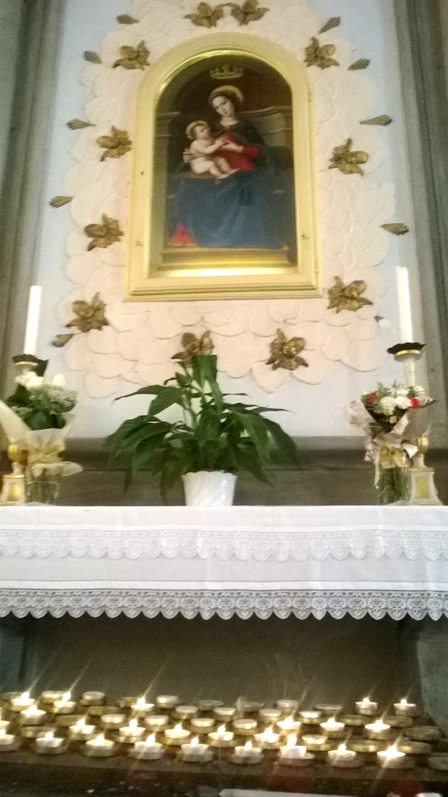 18 settembre 2016 Madonna con bambino bottega del Ghirlandaio chiesa di san Colombano a Settimo.jpg