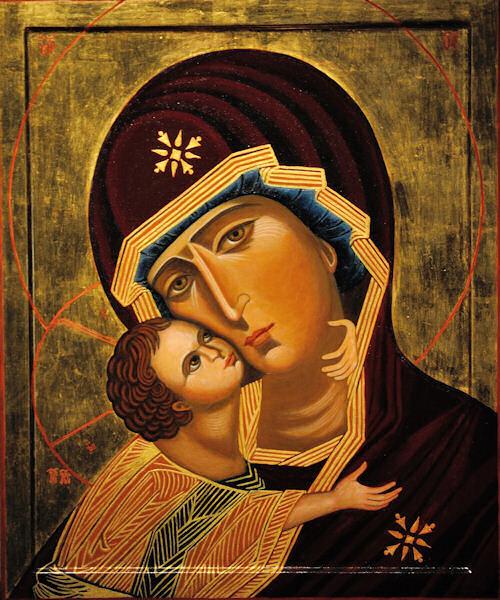 Madonna della Tenerezza, Icona di Maria in San Carlo