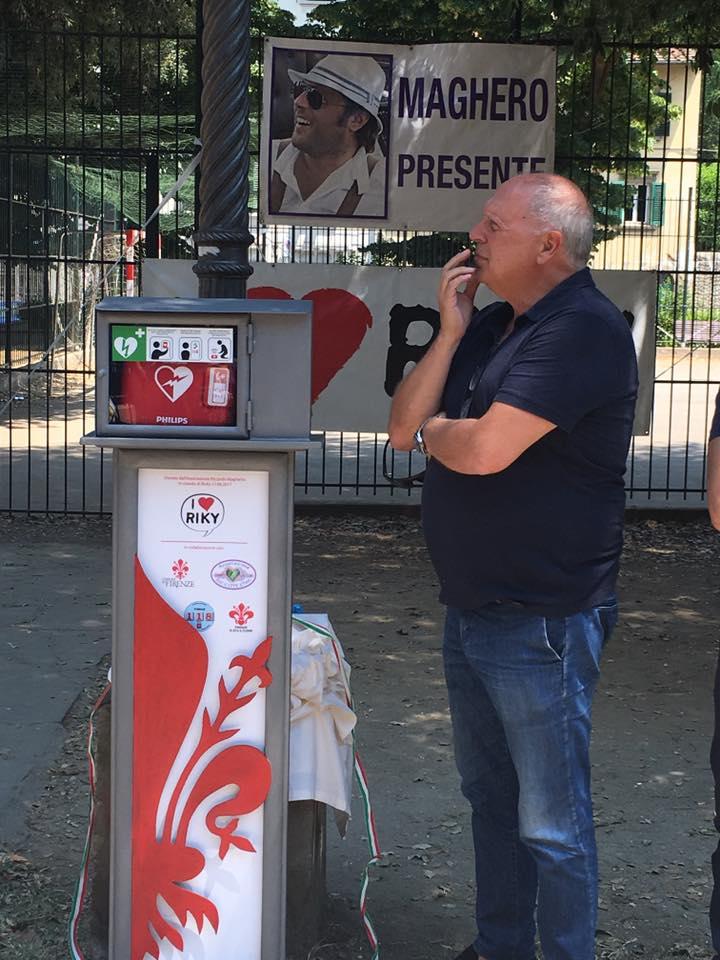 17 giugno 2017 Guido Magherini e il defibrillatore in piazza