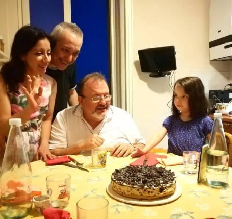 14 luglio 2017 don Fulvio e il cheesecake