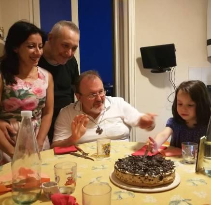 14 luglio 2017 don Fulvio Viola e cheesecake
