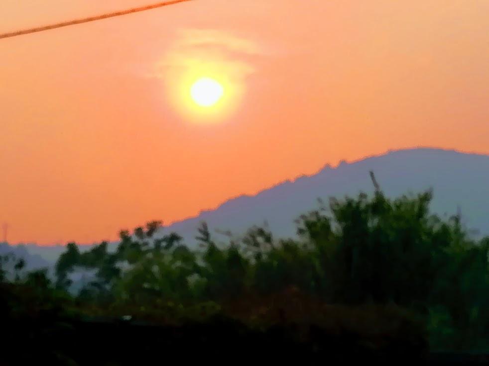 incendio in Corsica da Fetovaia